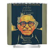Gabriel Garcia Marquez Shower Curtain