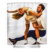 Gabriella Papadakis And Guillaume Cizeron Shower Curtain