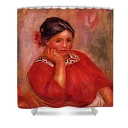 Gabrielle In A Red Blouse 1896 Shower Curtain