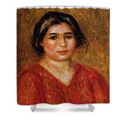 Gabrielle In A Red Blouse 1913 Shower Curtain