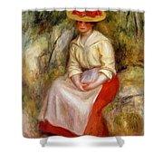 Gabrielle In A Straw Hat 1900 Shower Curtain