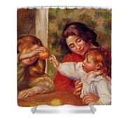Gabrielle Jean And A Little Girl Shower Curtain