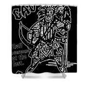 Gad At The Last-white Trim Shower Curtain