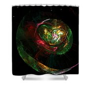 Gaia Revealed Shower Curtain