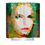 Gal Hotty Totty Shower Curtain