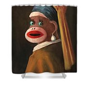 Gal With A Pearl Earring Shower Curtain