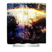 Galactic Curve  Shower Curtain