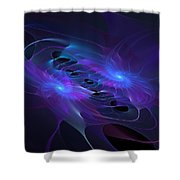 Galactic Duel Shower Curtain
