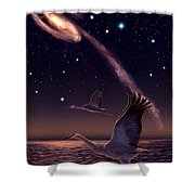 Galactic Migration Shower Curtain