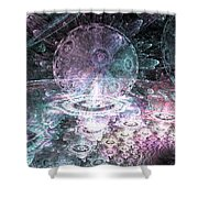 Galactic Nights Shower Curtain