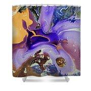 Galactic Portal. Abstract Fluid Acrylic Pour Shower Curtain