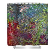 Galactic Spring_by Aatmica Shower Curtain