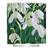 Galanthus Shower Curtain