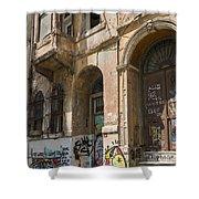 Galata Street Scene Shower Curtain