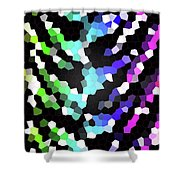 Galaxy In Time Abstract Design Shower Curtain