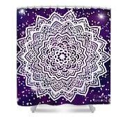 Galaxy Mandala Shower Curtain