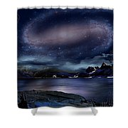 Galaxy Rise Shower Curtain