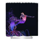 Galaxy Surfer 3 Shower Curtain