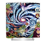 Galaxy To Galaxy Shower Curtain