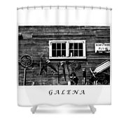 Galena Antiques Shower Curtain