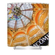 Galeries Lafayette Inside Art Shower Curtain