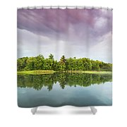 Gale's Pond Early In The Morning Shower Curtain