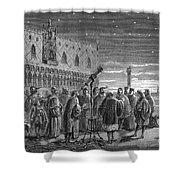 Galileo Demonstrates Telescope, 1609 Shower Curtain