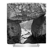 Gallery Entrance At Creevykeel Court Cairn Ireland Shower Curtain