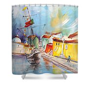Gallion In Vila Do Conde Shower Curtain