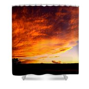 Gallo Peak Fiery Skies  Shower Curtain