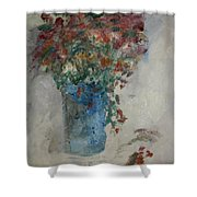 Gallon Can Florals Shower Curtain