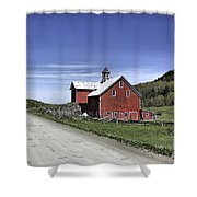 Gallop Road Barn Shower Curtain