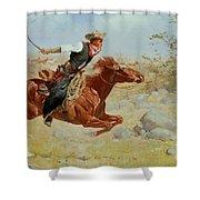 Galloping Horseman Shower Curtain