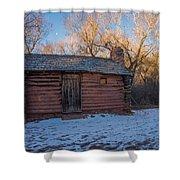 Galloway Homestead Cabin Shower Curtain