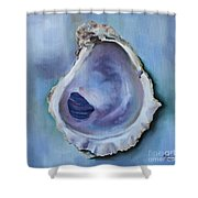 Galveston Oyster Shell Shower Curtain