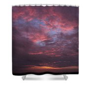 Galveston Texas Sunset Shower Curtain