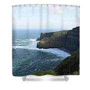 Galway Bay And Towering Cliffs Of Moher In Ireland Shower Curtain