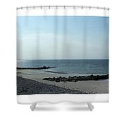 Galway Bay At Salt Hill Park Galway Ireland Shower Curtain