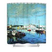 Galway Docks Shower Curtain