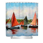 Galway Hookers Shower Curtain by Conor McGuire