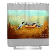 Gambel's Quail On Parade Shower Curtain