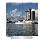 Gambling Ship Liquid Vegas In Florida Shower Curtain