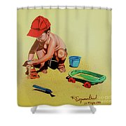 Game At The Beach - Juego En La Playa Shower Curtain