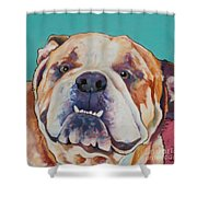 Game Face   Shower Curtain