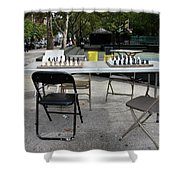 Game Of Chess Anyone Shower Curtain by Terry Wallace