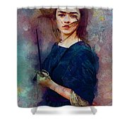 Game Of Thrones. Arya Stark. Shower Curtain