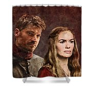 Game Of Thrones. Cersei And Jaime. Shower Curtain