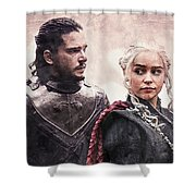 Game Of Thrones. Jon Snow And Daenerys Targaryen Shower Curtain