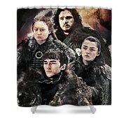 Game Of Thrones.the Last Of Stark. Shower Curtain