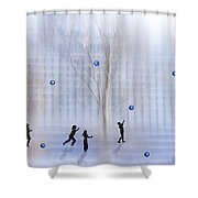 Game With Ball Shower Curtain